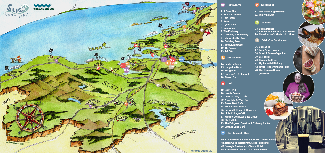 Sligo Food Trail Map