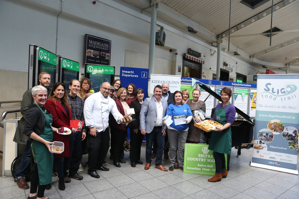 Repro Free: Wednesday 5th October 2016. Fáilte Ireland are today partnering with Iarnród Éireann and the Sligo Food Trail – Harvest Feast Season, in bringing all Sligo has to offer to a group of VIP writers as part of a series of new initiatives to stimulate regional dispersion and seasonal extension along the Wild Atlantic Way. Picture Jason Clarke