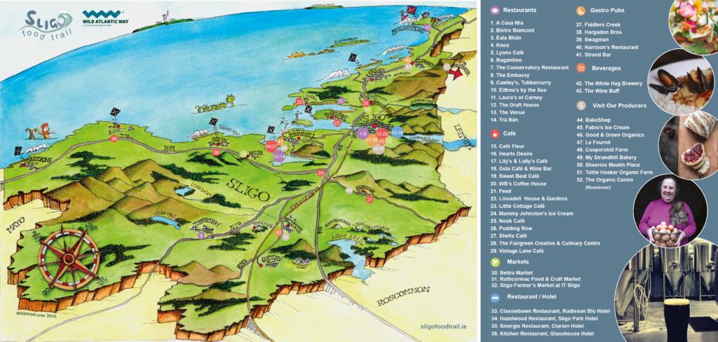 Sligo Food Trail Map